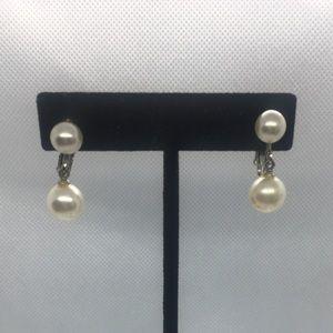 Vintage Faux Pearl Clip/Screw On Earrings